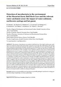 Detection of mycobacteria in the environment of the Moravian Karst ...