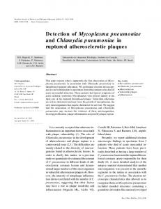 Detection of Mycoplasma pneumoniae and