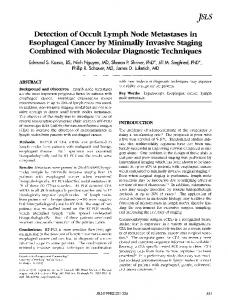 Detection of Occult Lymph Node Metastases in Esophageal Cancer by