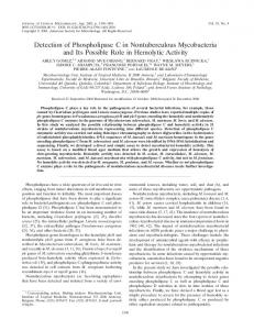 Detection of Phospholipase C in Nontuberculous Mycobacteria and Its ...
