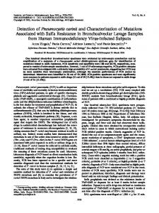 Detection of Pneumocystis carinii and Characterization of ... - UCA