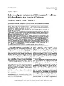 Detection of point mutations in KRAS oncogene by ...