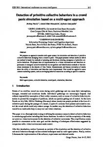 Detection of primitive collective behaviors in a crowd panic simulation ...