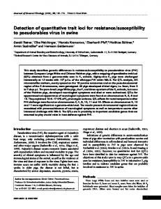 Detection of quantitative trait loci for resistance