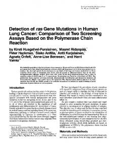 Detection of ras Gene Mutations in Human Lung Cancer: Comparison ...