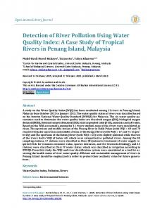 Detection of River Pollution Using Water Quality Index - Scientific ...