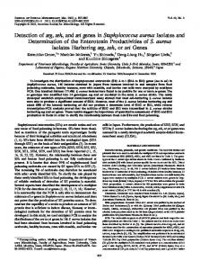 Detection of seg, seh, and sei genes in Staphylococcus aureus ...