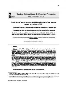 Detection of seven viruses and Mycoplasma in ... - SciELO Colombia