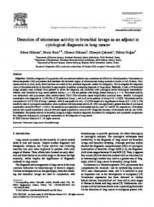 Detection of telomerase activity in bronchial lavage ... - Semantic Scholar