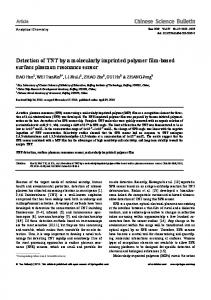 Detection of TNT by a molecularly imprinted polymer ... - Springer Link