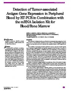 Detection of Tumor-associated Antigen Gene Expression in Peripheral ...