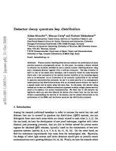 Detector decoy quantum key distribution