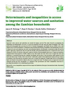 Determinants and inequalities in access to improved ...