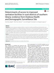 Determinants of access to improved sanitation facilities in rural districts ...