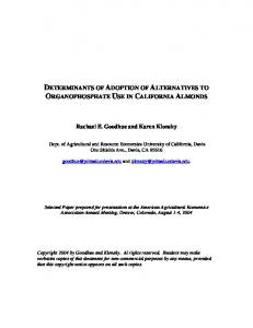 determinants of adoption of alternatives to ... - AgEcon Search