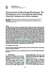 Determinants of Advertising Effectiveness: The Development of an ...