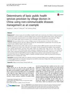 Determinants of basic public health services provision by village ...