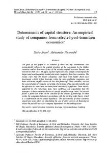 Determinants of capital structure: An empirical study of companies ...
