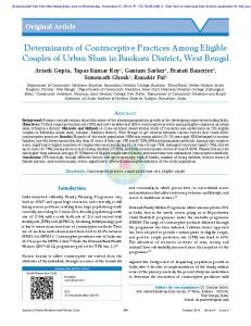 Determinants of Contraceptive Practices Among ...