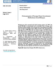 Determinants of Foreign Direct Investment: Reflections ... - CiteSeerX
