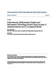 Determinants of Information Systems and Information Technology ...
