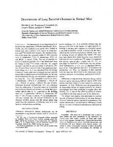 Determinants of Lung Bacterial Clearance in Normal