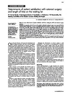 Determinants of patient satisfaction with cataract surgery and length of ...