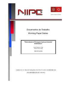 Determinants of Portuguese local governments' indebtedness - NIPE