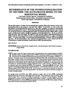 determinants of the internationalization of the firm: the ...