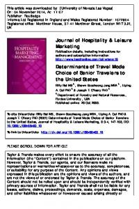 Determinants of Travel Mode Choice of Senior ...