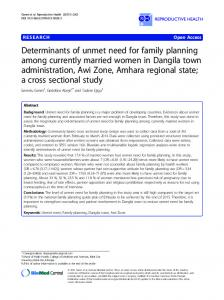 Determinants of unmet need for family planning among ... - Springer Link