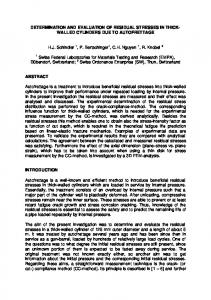 DETERMINATION AND EVALUATION OF RESIDUAL ...