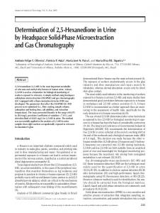 Determination of 2, 5-Hexanedione in Urine by Headspace Solid
