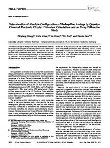 Determination of Absolute Configurations of Bedaquiline Analogs by ...