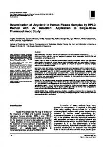 Determination of Acyclovir in Human Plasma Samples by HPLC ...