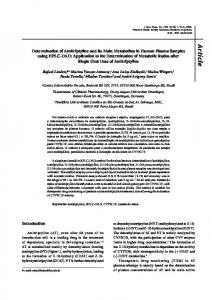 Determination of amitriptyline and its main metabolites in human ...