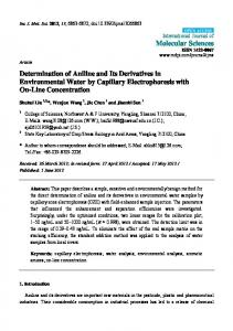 Determination of Aniline and Its Derivatives in ... - BioMedSearch