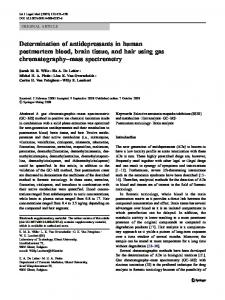 Determination of antidepressants in human ... - Springer Link