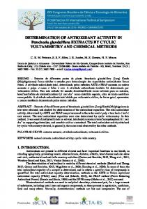DETERMINATION OF ANTIOXIDANT ACTIVITY IN