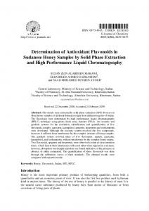 Determination of Antioxidant Flavonoids in Sudanese ... - Hindawi