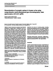 Determination of aromatic amines in human urine using ...