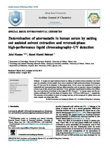 Determination of atorvastatin in human serum by salting out ... - Core