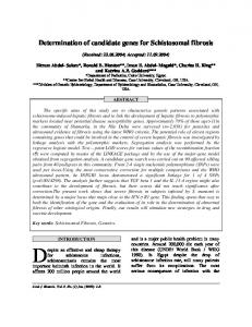 Determination of candidate genes for Schistosomal ...