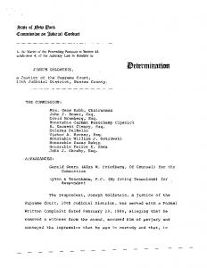 Determination of Censure - New York State Commission on Judicial ...