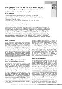 Determination of CH4, CO2 and N2O in air samples