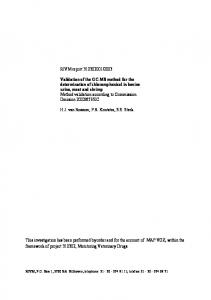 Determination of chloramphenicol in bovine urine, meat and shrimp by