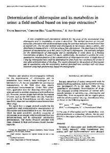 Determination of chloroquine and its metabolites in urine: a field ...