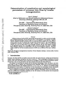 Determination of constitutive and morphological parameters of ...