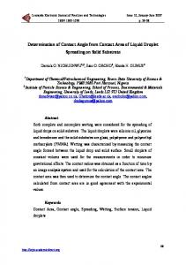 Determination of Contact Angle from Contact Area of ... - CiteSeerX