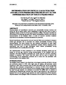 determination of critical gas saturation and relative permeabilities